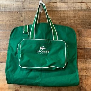 Lacoste Parfums green travel garment bag NEW